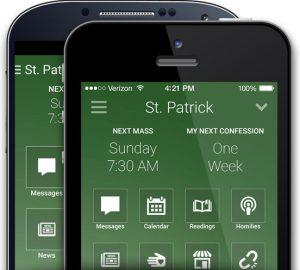 MyParishApp phone